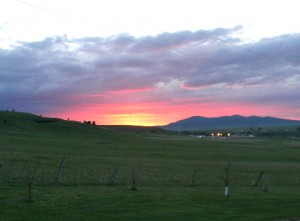Summer sunset in central Montana